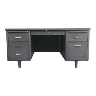 1950s Vintage Steel Tanker Desk For Sale