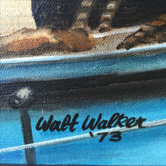 1973 Nautical Oil Painting by Walt Walker For Sale - Image 7 of 9