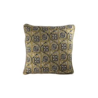 Hand Blocked Print Pillow For Sale