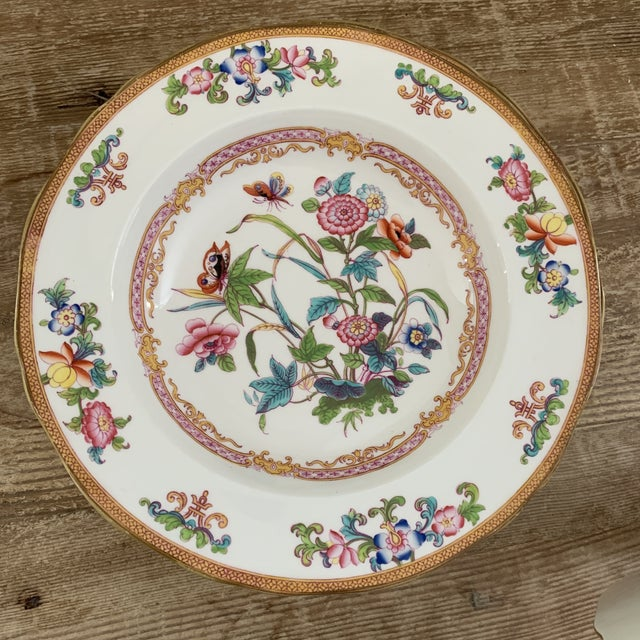 Chinoiserie Antique English Minton Chinoiserie Shallow Dinner Bowls- Set of 8 For Sale - Image 3 of 11