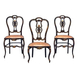 French Regency Caned Chairs - Set of 3