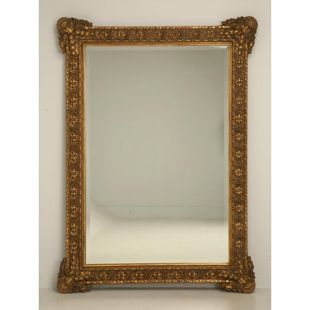 Floor-Size 19th Century English Traditional Giltwood Reproduction Mirror For Sale - Image 9 of 9