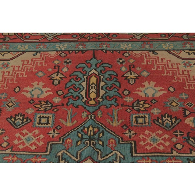 Hand Knotted Vintage Geometric Rug - 9' X 10' For Sale - Image 5 of 6