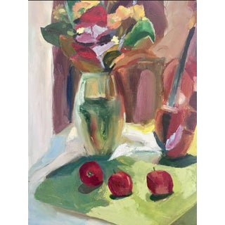 """""""Thanksgiving Bouquet"""" Oil Painting by Melba Juez-Perrone For Sale"""