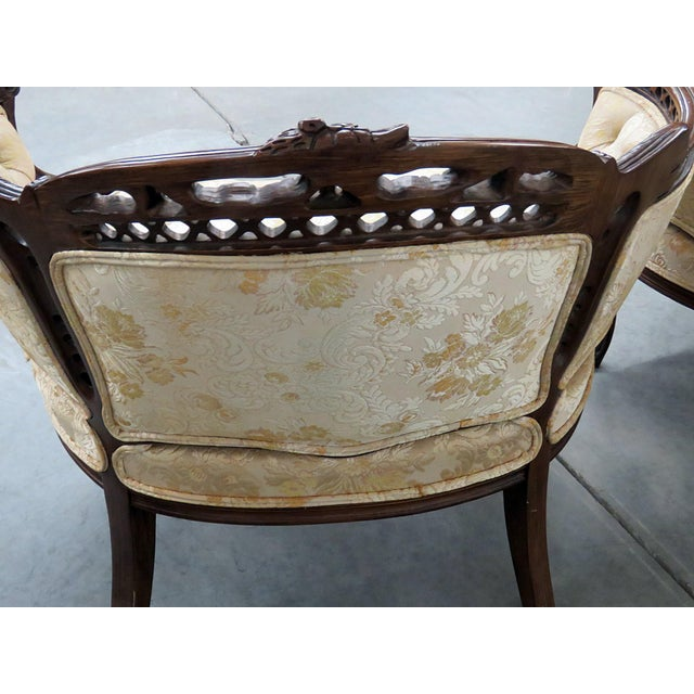 Louis XV Style Marquis Chairs - a Pair For Sale In Philadelphia - Image 6 of 12