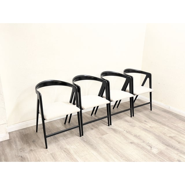 1960s Mid Century Modern Italian Dining Chairs For Sale - Image 5 of 13