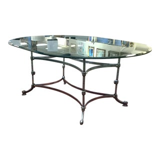 McGuire Stainless Steel Dining Table For Sale