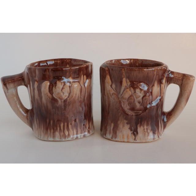 Ceramic Faux Bois Majolica Beverage Set For Sale - Image 7 of 12