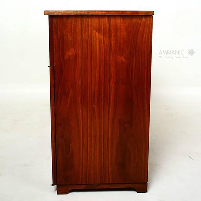 1960s Mid-Century Modern Walnut Cabinet Desk For Sale - Image 5 of 10