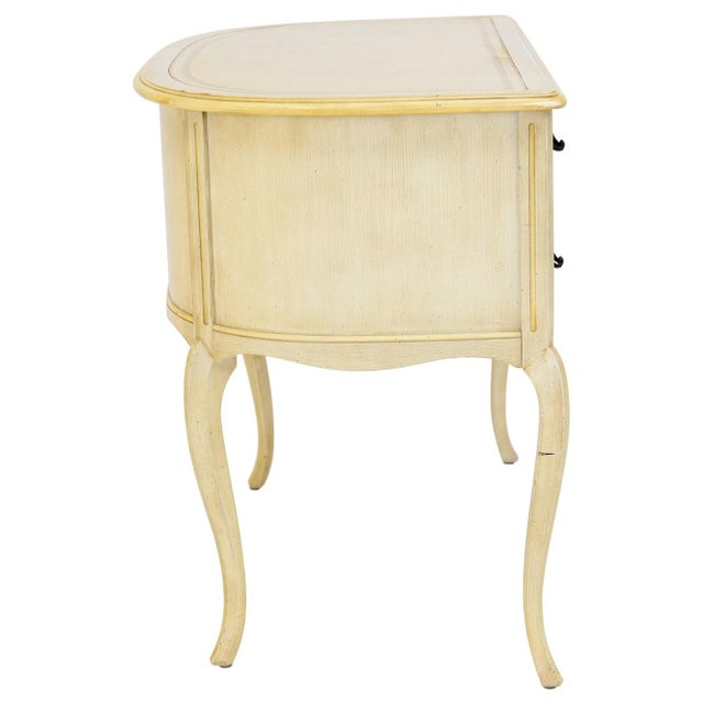 Demilune Desk W/ Leather Top by Sligh For Sale - Image 9 of 11