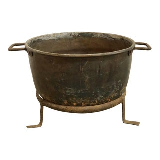 Antique Over Sized French Copper Pot For Sale