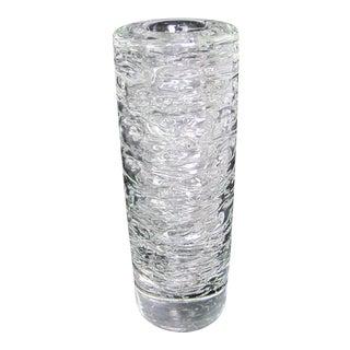 Vintage Mid-Century Modern Frantisek Vizner Studio Bohemian Czech Crystal Vase For Sale