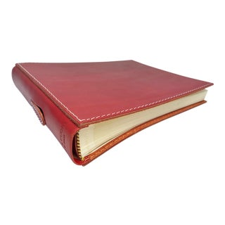 Transitional Arte & Cuoio Red Leather Photo Album