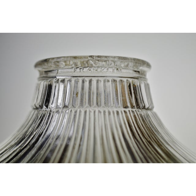 Art Nouveau 1905 Franklin Ribbed Glass Light Shades - a Pair For Sale - Image 10 of 12
