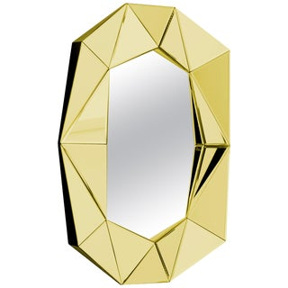 Gold Decorative Mirror For Sale