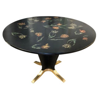 "1950s Italian ""Tulipani"" Fornasetti Dining or Center Table For Sale"