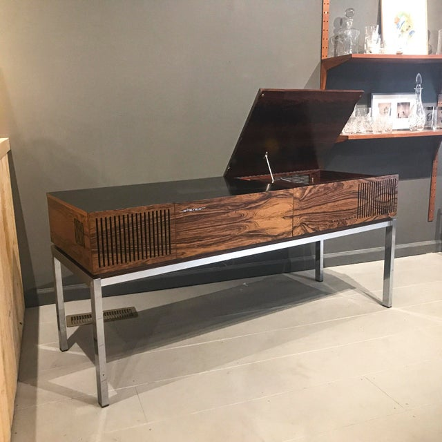 """1970s Blaupunkt GmbH """"Arizona"""" Rosewood & Chrome Stereo Console For Sale - Image 13 of 13"""