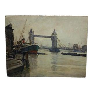 """1930s Vintage """"London Bridge"""" Print For Sale"""