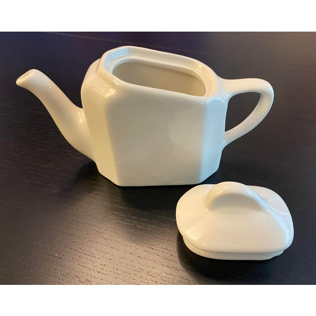 Ceramic Tea For Two Twin Tea Set With Matching Trivet by Hall Pottery - 5 Piece Set For Sale - Image 7 of 12