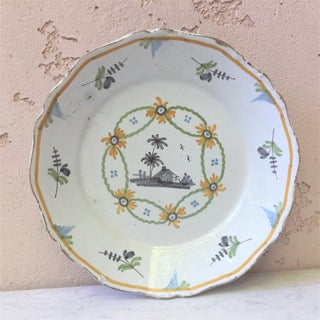1780 French Faience Nevers Plate Preview