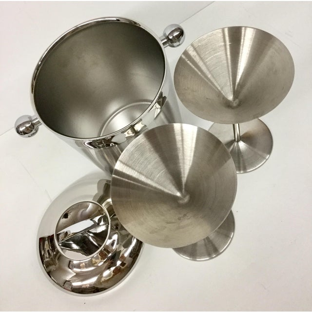 1960s 1960s Vintage Stainless Copco Martini Set - 3 Pieces For Sale - Image 5 of 11