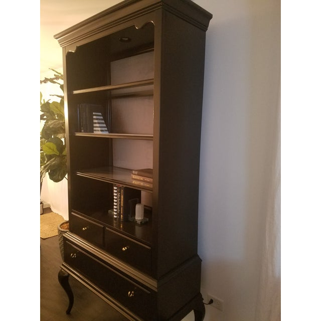 Perfect condition Cynthia Rowley Collection Display Cabinet from Hooker Furniture. Crafted from poplar and hardwood solids...