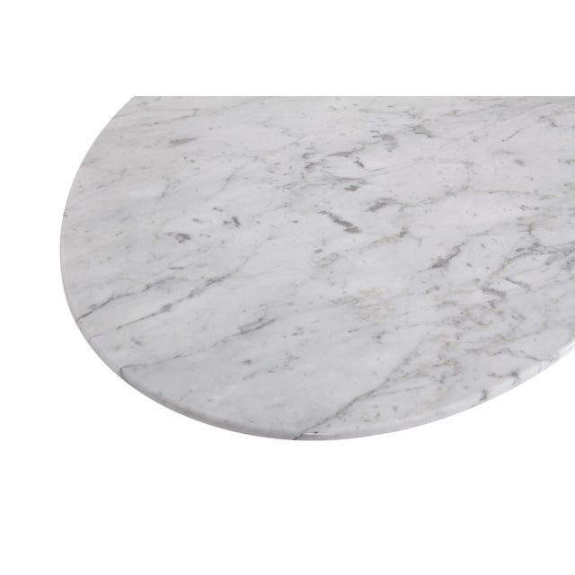 Mario Bellini Il Colonnata Oval Dining Table in Carrara Marble for Cassina For Sale - Image 6 of 12