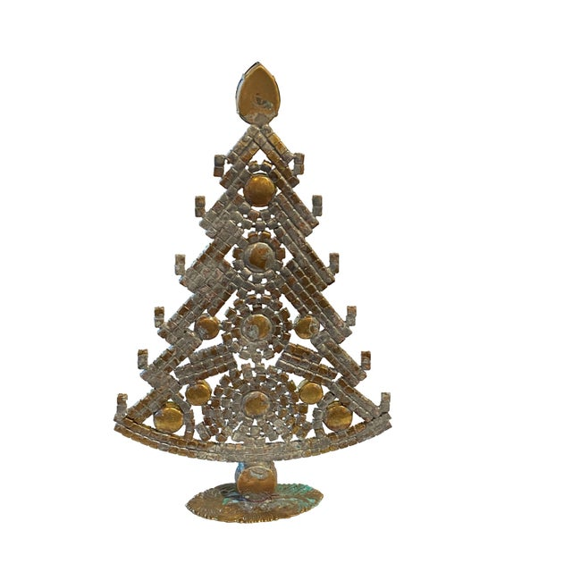 Traditional Emerald Green Czech Rhinestone Christmas Tree For Sale - Image 3 of 5