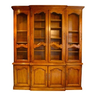 French Louis XV Style Oak Bibliotheque For Sale