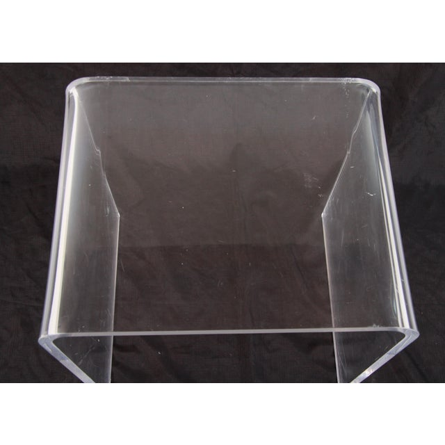 1990s Shlomi Haziza Lucite Nesting Tables - Set of 3 For Sale - Image 5 of 12