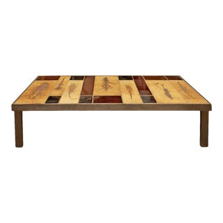 1970's Roger Capron Garrigue and Lava Tiles Coffee Table For Sale