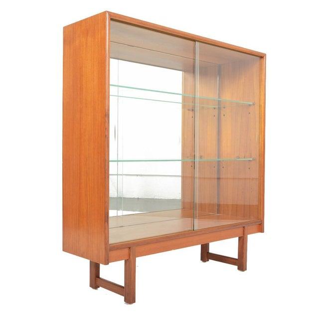 Turnidge of London Sliding Glass Doors Bookcase For Sale