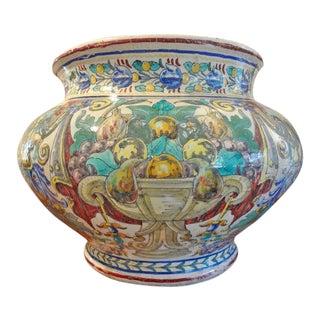 19th Century Italian Majolica Glazed Earthenware Jardiniere For Sale