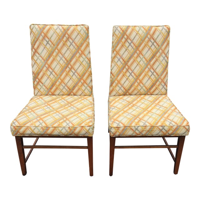 Image of Thomasville Founders Parson Chairs - A Pair