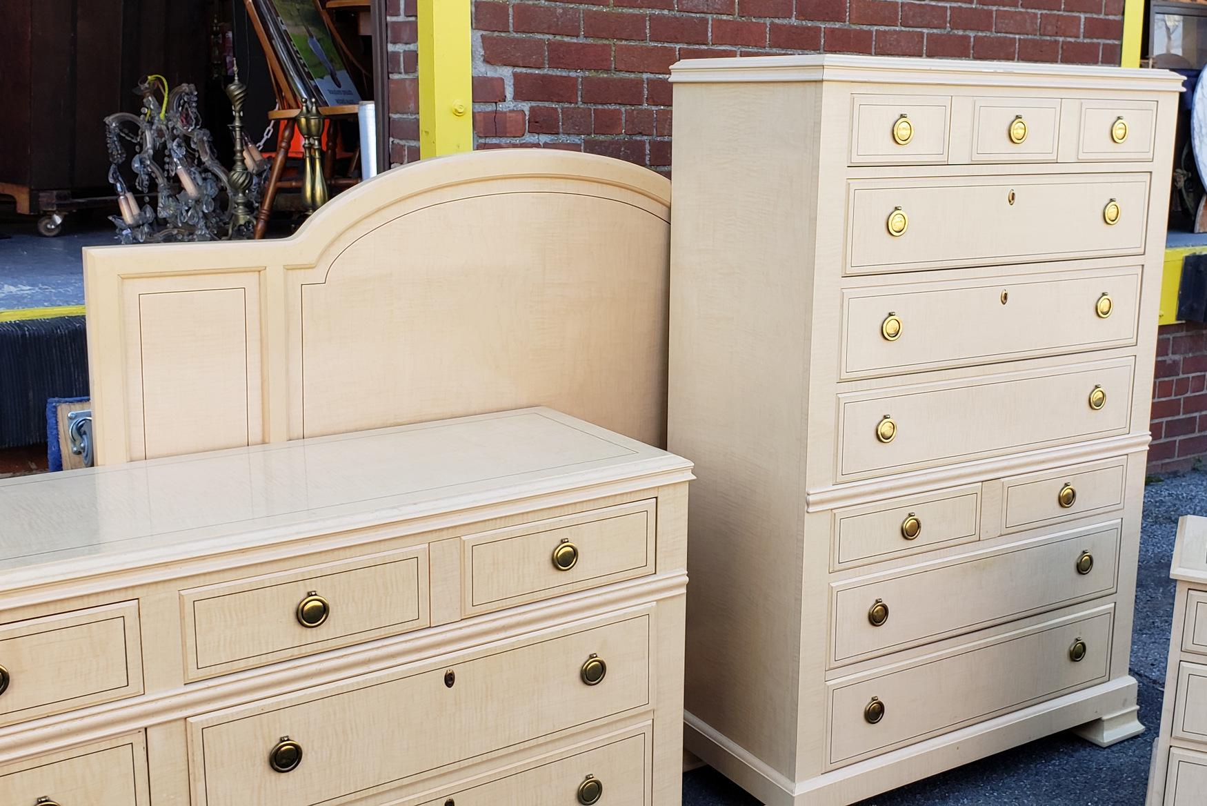 drexel heritage status collection 5 pc 1980s white washed maple rh chairish com