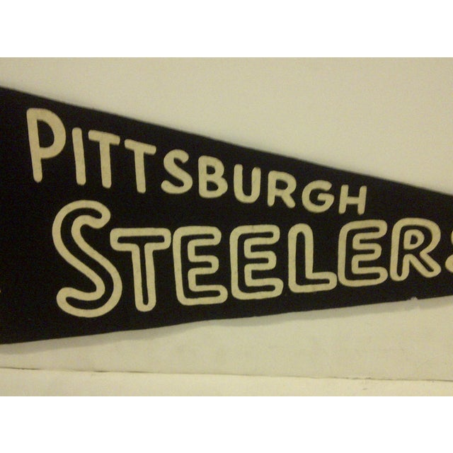 Vintage Football Team Pennant - Pittsburgh Steelers Circa 1950 For Sale - Image 4 of 7