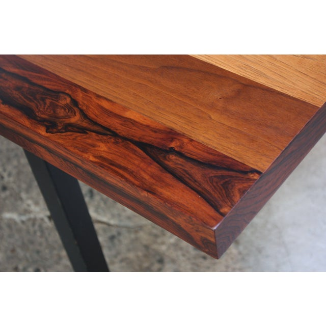 Directional Mixed-Wood Dining Table by Milo Baughman - Image 10 of 13
