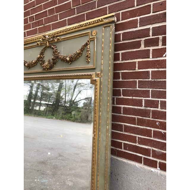 Giltwood 18th C. French Louis XV Trumeau Mirror For Sale - Image 7 of 9