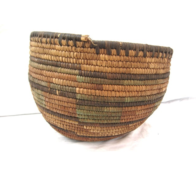 Native American Hand Woven Basket For Sale - Image 4 of 7