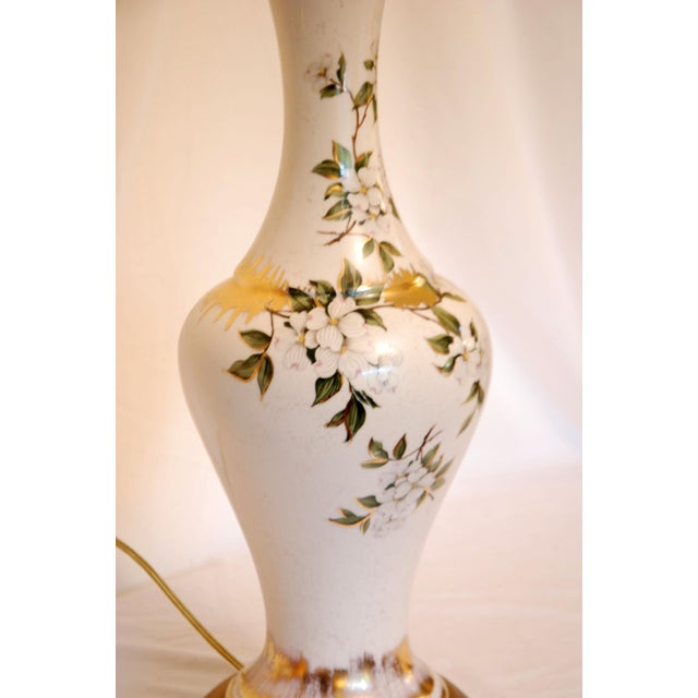 Vintage Dogwood Table Lamps - a Pair - Image 3 of 7