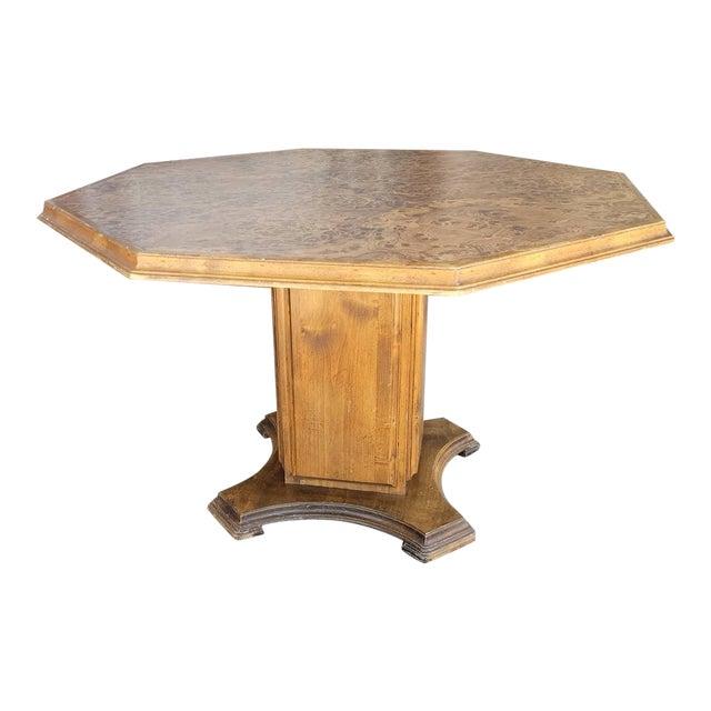 Vintage Modern Wood Dining Table For Sale