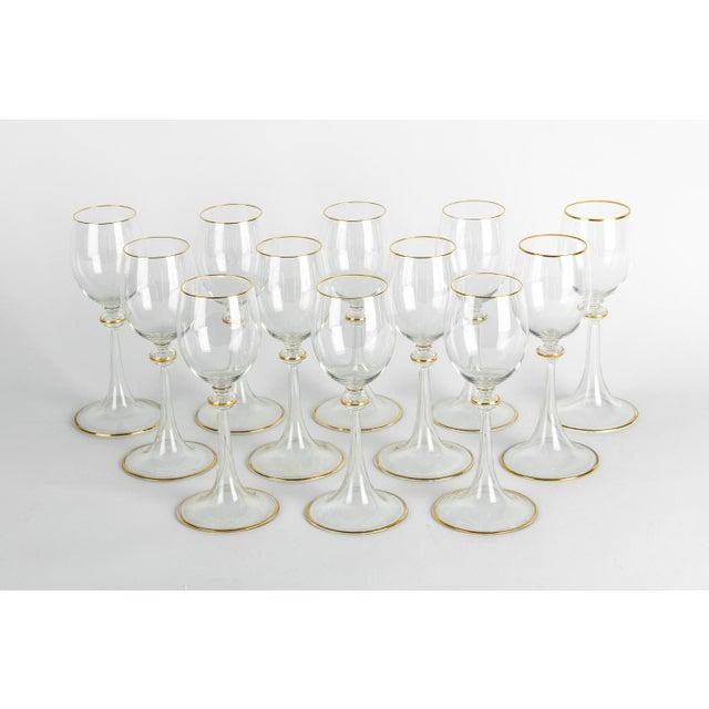 Glass Vintage Baccarat Crystal Glassware - Set of 14 For Sale - Image 7 of 7