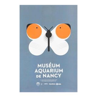 2015 Aquarium De Nancy Poster, Butterfly For Sale