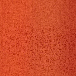 Schumacher Shagreen Wallpaper in Chinese Orange For Sale