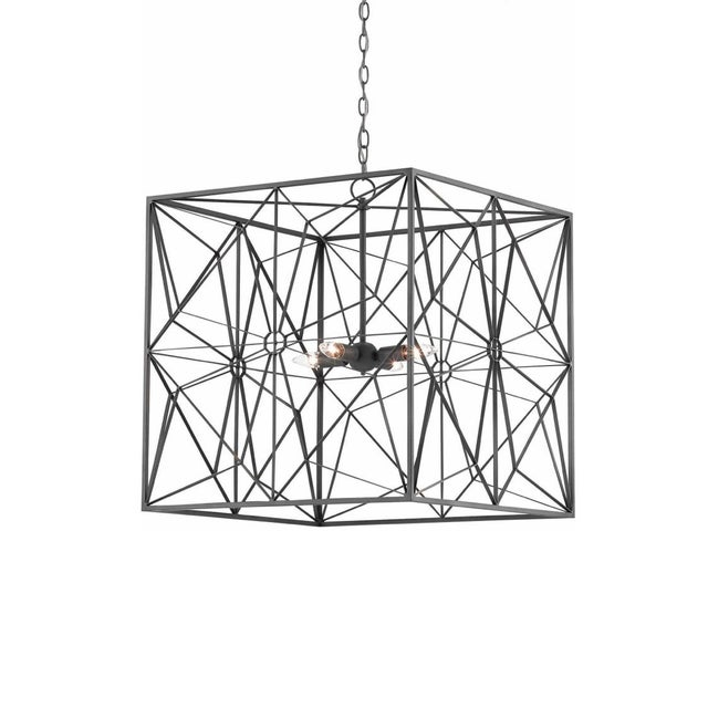 2010s Currey & Co. Asanoha Chandelier For Sale - Image 5 of 5