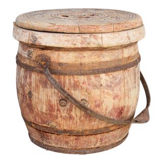 Antique Lidded Rice Container For Sale