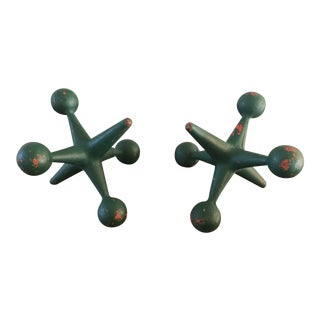 Vintage Cast Iron Jacks Bookends - A Pair For Sale