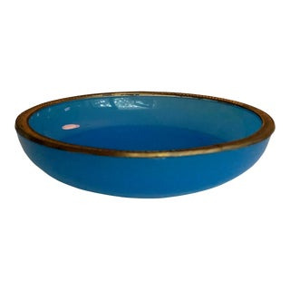 1940s French Blue Opaline Dish For Sale