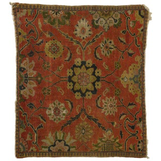19th Century Persian Sultanabad Accent Rug - 4′3″ × 5′ For Sale