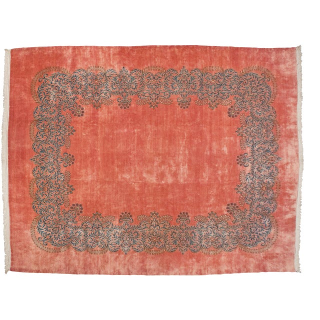 "Vintage Fine Kerman Carpet - 11'3"" X 14'2"" For Sale"